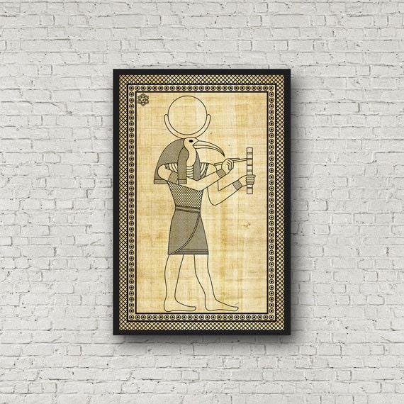 Egyptian Archival Art Print :Ancient Egypt God Thoth Print