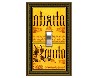 choose sizes / prices from drop down box0709B - Illuminated Letters Bkgd - mrs butler switch plate covers - - mix/match with 0709a