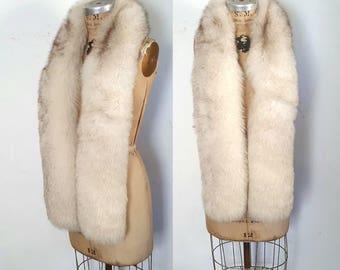 Fox Fur Wrap Boa / XL scarf / bridal or party