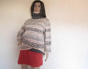 Vintage 80s Turtleneck Sweater Turtleneck Sweater pure new wool S / M