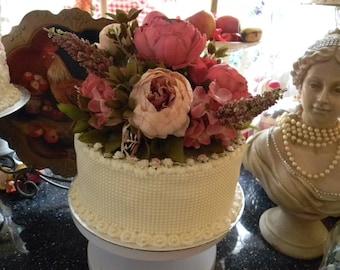 Stunning Ooak Faux/FakeLrg Shabby Chic Peony Hydrangea Cake