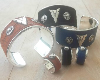 Bracelet cuir/métal bracelet HUNTER