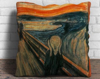 The Scream - Cushion Cover - 18x18 inches
