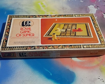 Vintage Board Game, Royal Game of Summer, S and R Games, Ancient Game, Vintage Game, 70s Game, Selchow and Righter, British Museum