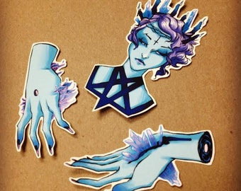 Blue Witch Sticker Pack