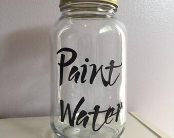 Paint Water Jar