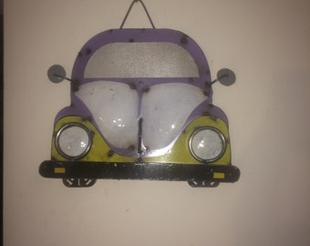 Recycled Metal Beetle Volkswagen Sign Wall Decor