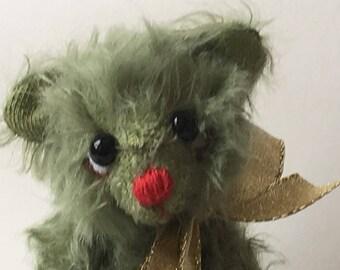 Mohair Artist Bear Christmas Teddy Bear: Jinglebottoms by Chicago Bear Co
