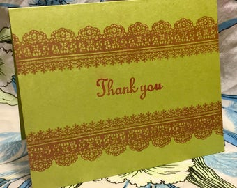 Thank-you cards (small green)