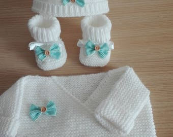 Set top Pixie hat and matching slippers 0/3 months