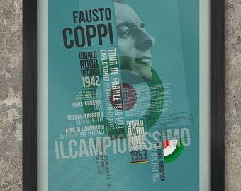 The Fausto Coppi Palmarès Poster