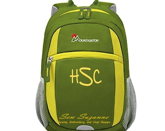 Monogrammed Mountaintop Kids Backpack, Toddler Backpack, Pre-School, Kindergarten