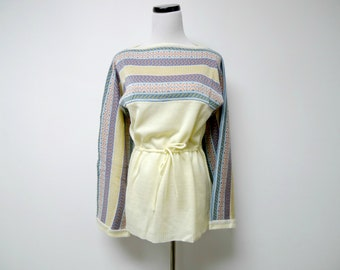 70s boho knitted sweater . fits like small to medium