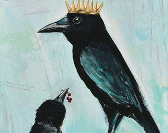 "King Crow -- professional print 10"" x 30"""