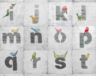Nursery Art Print, gray and white, gray nursery, Nursery Poster, ABC Prints, Poster Print, Kids Room Decor, Nursery Prints, Children's Decor