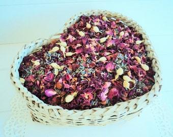 BRIDAL ROSE LAVENDERfetti™, Wedding Confetti, Sachets, Shabby Chic, Dried Lavender, Dried Roses, Ecofriendly Wedding, Biodegradable Petals