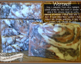 Werewolf - Rustic Suds Natural - Organic Goat Milk Triple Butter Soap Bar - 5-6oz. Each