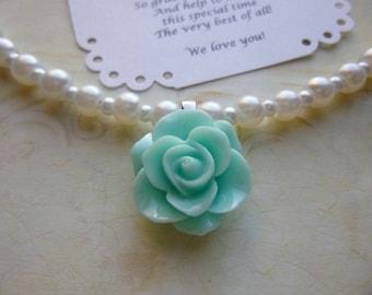 Pearl Flower Girl Necklace, Flower Girl Gift, Pearl Flower Girl Jewelry, Pearl Bridesmaid Necklace, Pearl Bridesmaid Jewelry, Girls Necklace