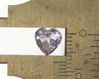 Amethyst Faceted Heart - 7.5mm Natural Faceted Gemstones Birthstone: LSAmethyst7.5mmHeart