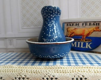 Hand painted Pitcher & Bowl