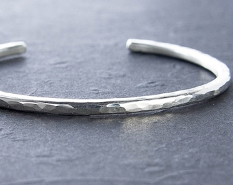 Silver Cuff Bracelet. Choose Gauge. Solid Recycled Sterling Silver Bracelet. Silver Cuff. Choose Finish