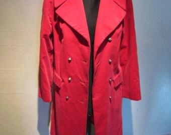 Vintage Mod Bright Hot Pink Velvet Double-Breasted Coat