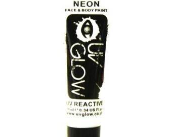 White UV Glow Neon Body Paint - Glowing Body Paint - 0.34 / 10ml tubes