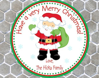 Santa Festive Favor/ Gift Tags
