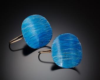 Blue Pringle Earrings