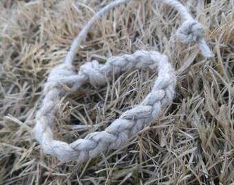 """Braided Natural Hemp Bracelet Handmade, 7"""" Hemp Bracelet, Hemp Jewelry, Braided Bracelet, Eco-friendly Jewelry, Hemp, Jewelry"""