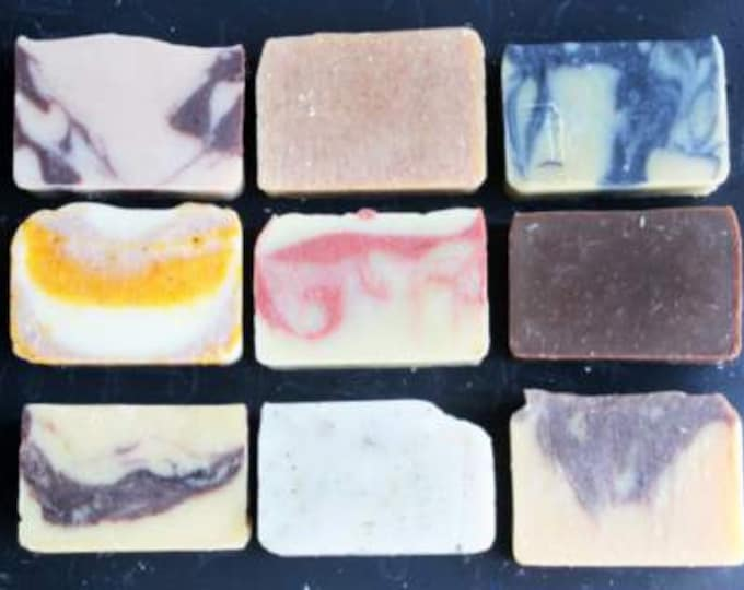 All Natural Soap Set of 3 made with essential oils and botanicals