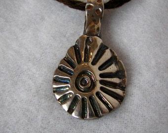 Supernova - fine silver pendant