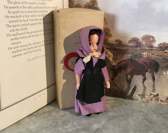 Vintage Plastic Amish Doll with Box