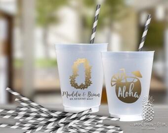 Wedding Party Aloha Lei Cups | social graces Co.