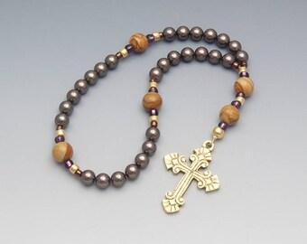 Anglican Rosary - Genuine Swarovski with Jasper Christian Prayer Beads Religious Gift - Item # 820