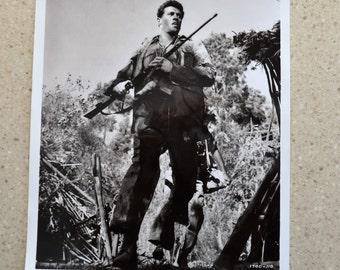 "Old Hollywood Photo Rock Hudson Movie Something Of Value Original 1957 MGM Promotional Photo 8"" x 10"" B&W glossy"