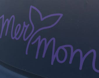 Mer mom car decal