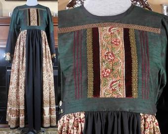 Handmade Nomad Afghani dress ceremonial peasant boho hippie festival costume One of a kind size sm Renaissance