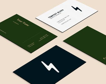 Custom Minimalist Business Cards, Digital Template