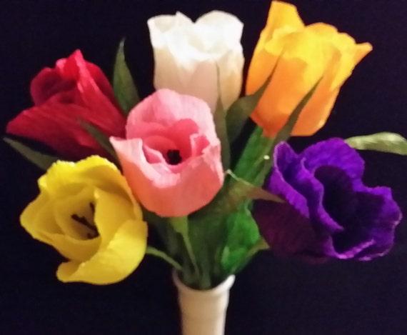 tulipe en papier crepon