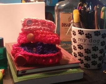 crocheted pet collars