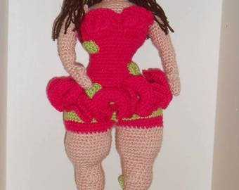 Tutoriel explications Pouppie la Pin-up pulpeuse 37 cm tuto patron au crochet pdf en français amigurumi