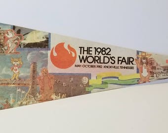 1982 World's Fair, Knoxville, Tennessee - Vintage Pennant