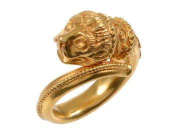 Vintage Zolotas 22KT Gold Chimera Ring