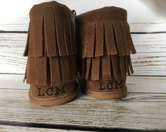 Monogram Baby Boots, Baby Moccasins, Crib Shoes, Custom monogram baby boots