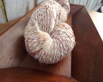 Peaches and Cream Handspun - Yarn Art - Alpaca and Merino -  Bulky Weight - Thick and Thin - 2 Ply - 154 Yards - 5.65 oz