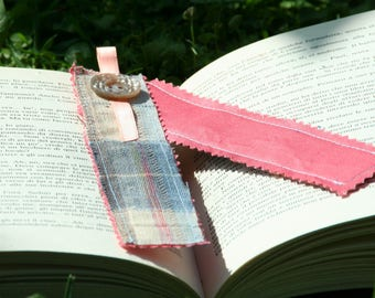 Eco bookmark recycled fabric squares