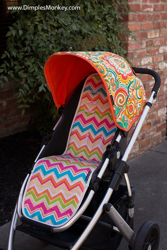& Custom Uppababy Vista Replacement Canopy with peekaboo window