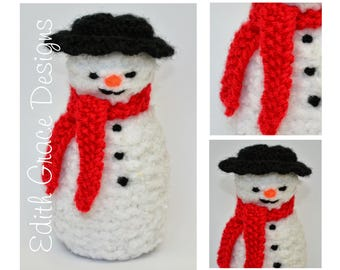 Snowman Toy Knitting Pattern, Christmas Doll, Doll Knitting Pattern, Knit Doll, Rag Doll Pattern, Knit Yarn Toy, Christmas Decorations