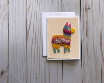 Donkey Pinata Fiesta Birthday Greeting Card
